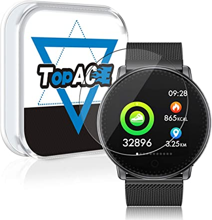 TopACE for UMIDIGI Watch Screen Protector, 9H Hardness Bubble Free Tempered Glass 0.2mm Film Compatible for UMIDIGI Watch (3 Pack)
