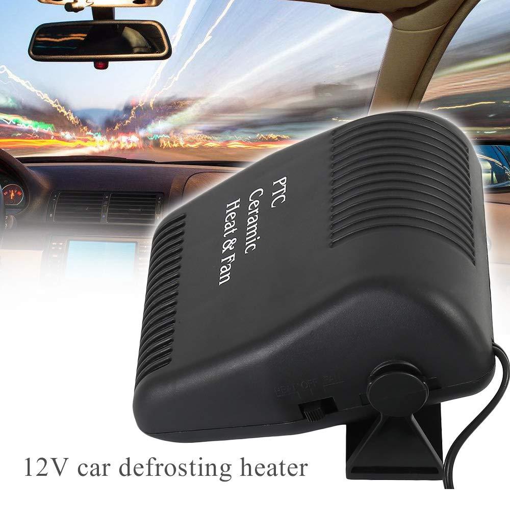 Chauffage Voiture 12V Dégivrant avec ventilateur pivotant 180° chaud et froid 150W Résistance hautes températures pour voiture et lourd camion Libraoeu