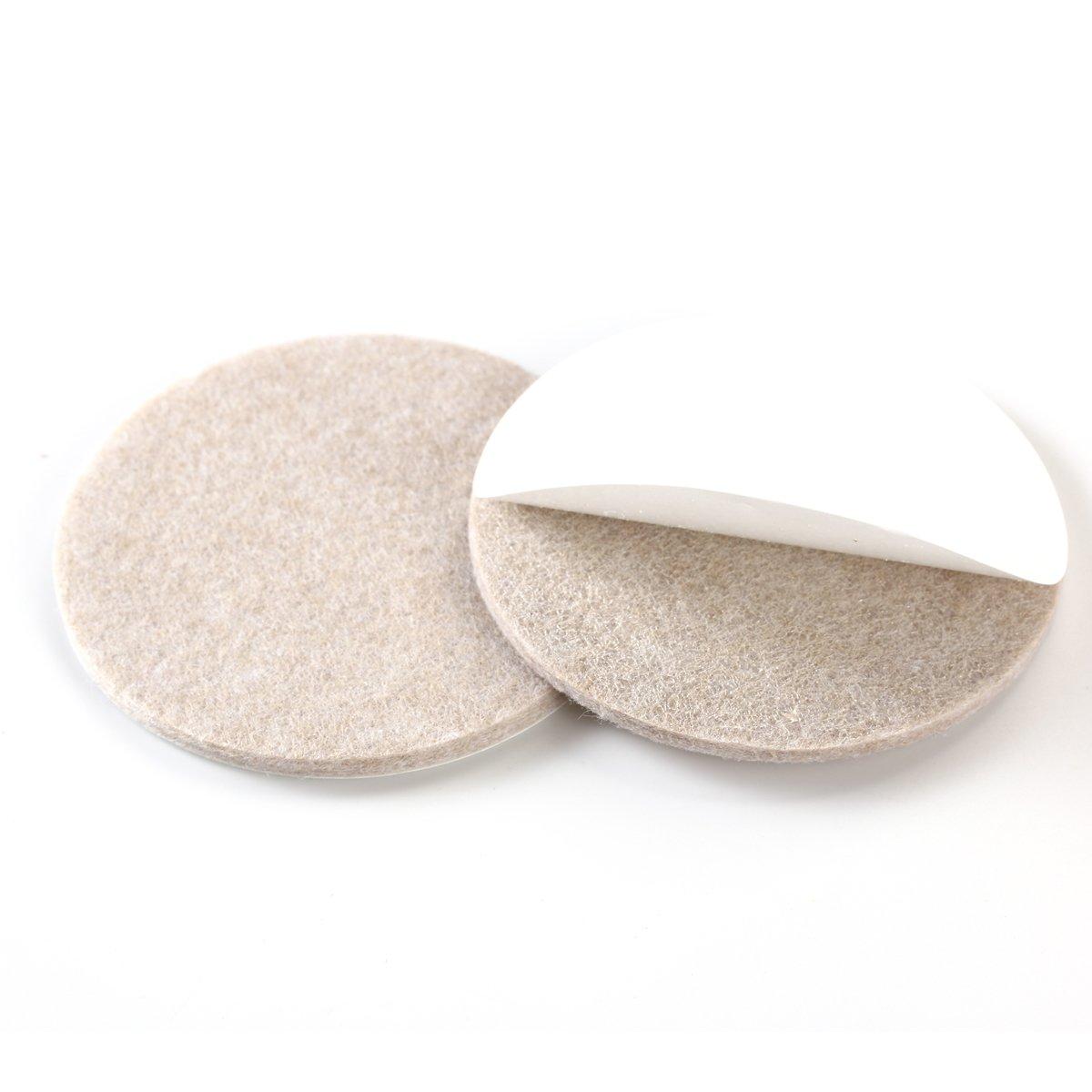 BESTOMZ 8pcs Patin Antid/érapant Meuble Patins Ronds en feutre 8,5 cm pour protecteur du sol pour pied de chhaise pied de table et pied de canap/é