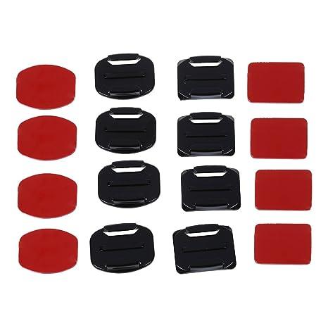 SODIAL(R) 4 Soporte Base Curvo + 4 Plano Adhesivo + 8 3M Pegamento