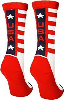 product image for MadSportsStuff USA Pride Athletic Crew Socks - Limited Edition