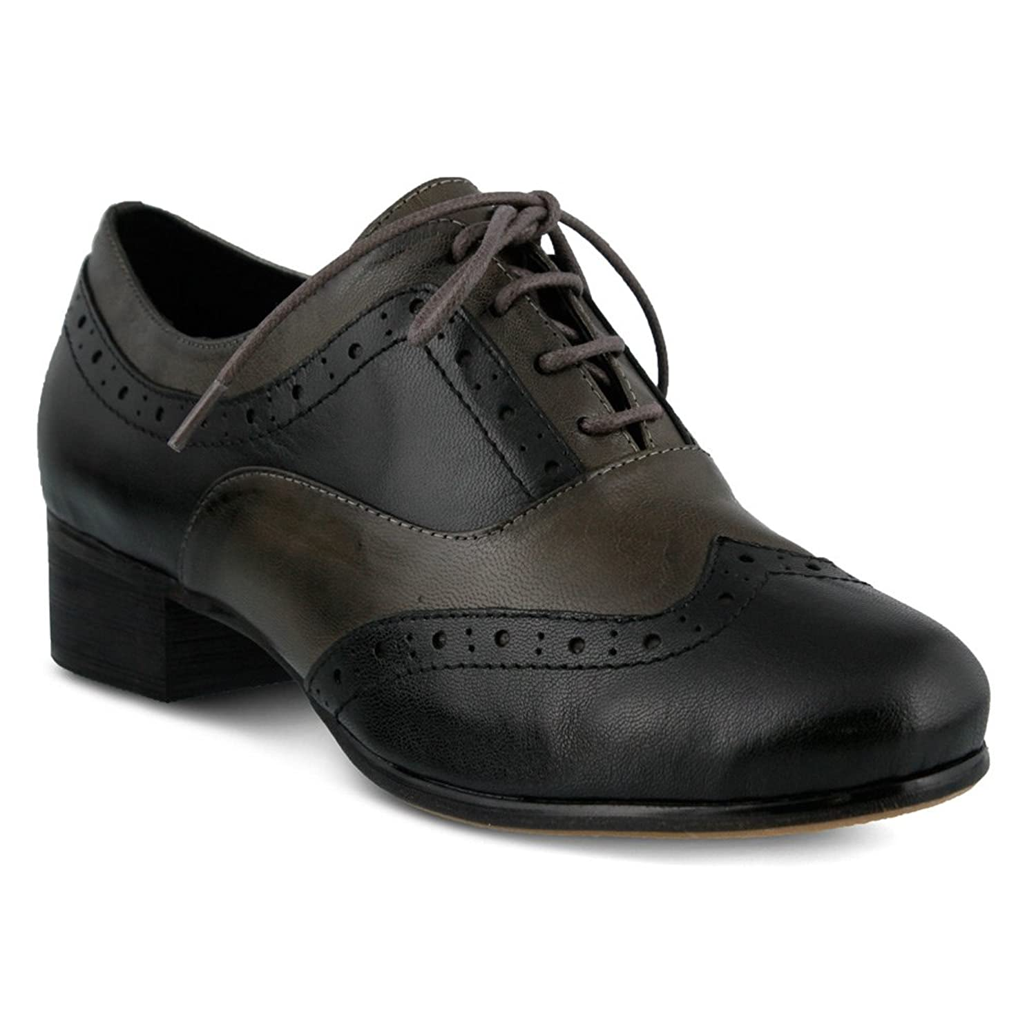 1940s Womens Shoe Styles Spring Step Womens Kiley Leather Rubber Oxfords $129.99 AT vintagedancer.com