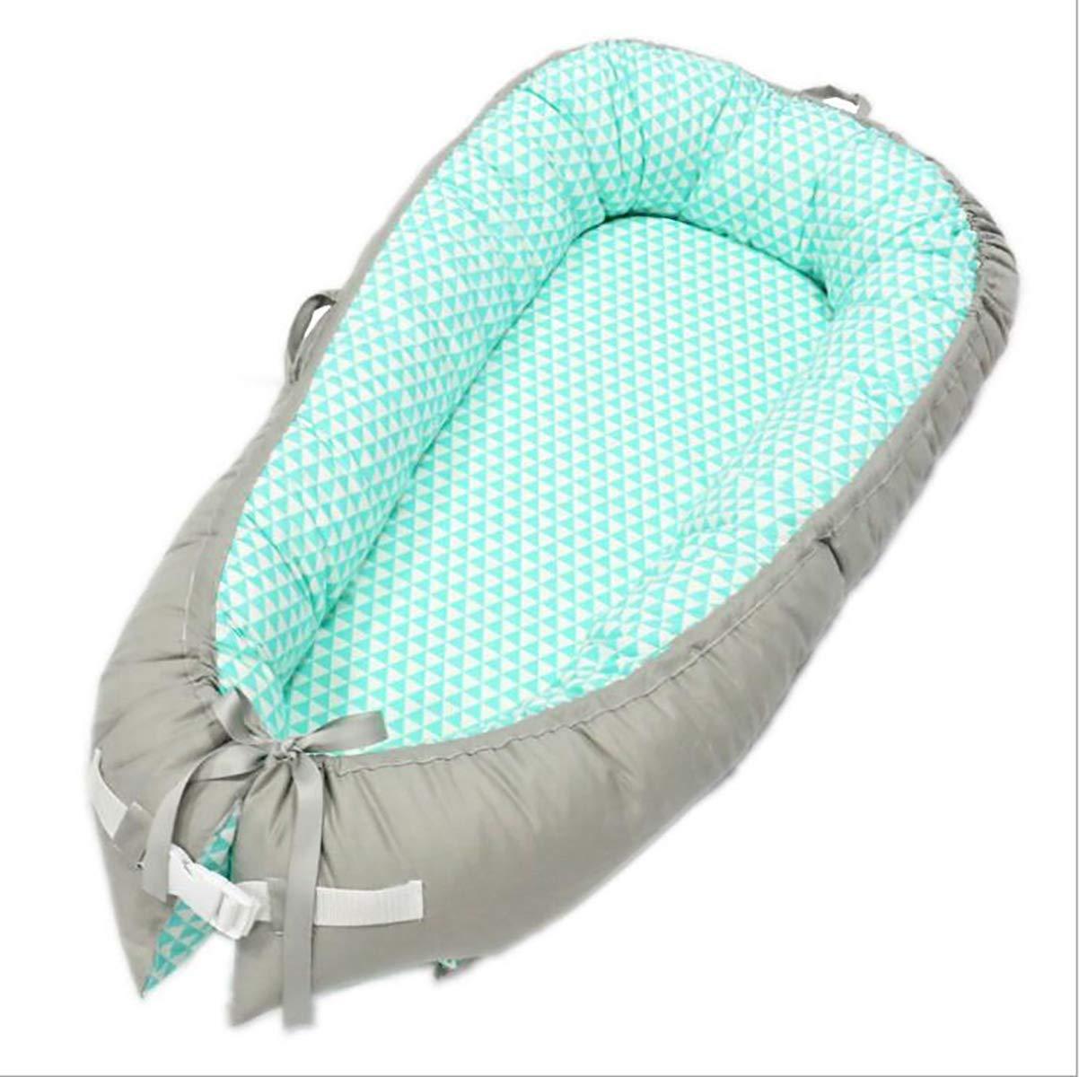 BABY NEST kuschelnest Bequeme weiche Tragbare Reisebett, 100% Baumwolle, Anti-Allergie, Externe Messungen  80 cm x 50 cm, 6, 80  50cm