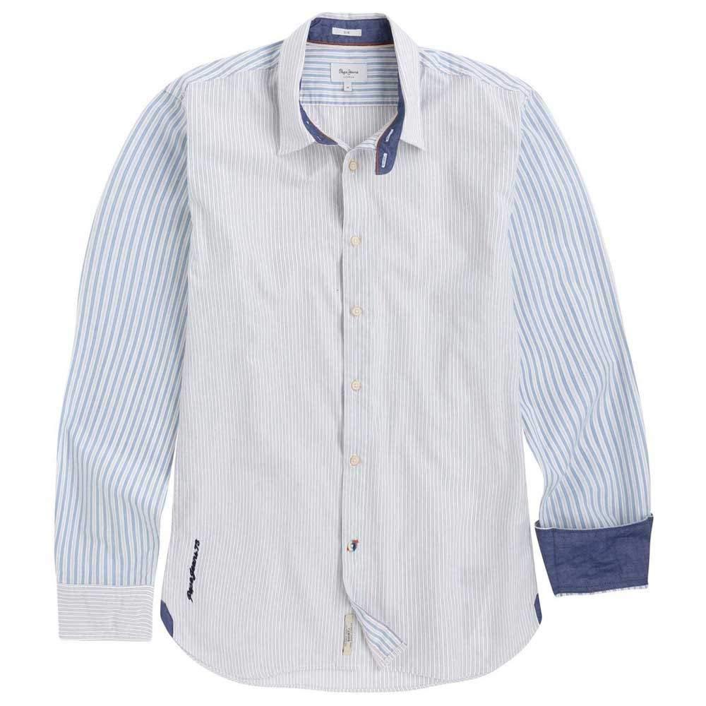 Pepe Jeans Camisa Almack Listas Hombre S Blanco: Amazon.es: Ropa y accesorios
