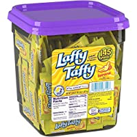 Wonka Laffy Taffy, Banana Flavor, 145 count tub (Pack of 1)