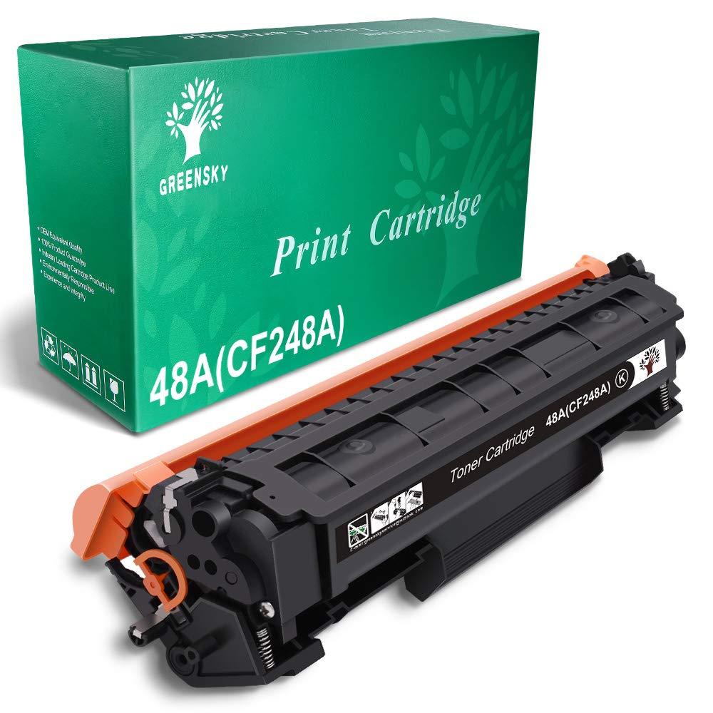 GREENSKY Compatible Toner Cartridge Replacement for HP 48A CF248A for HP Laserjet Pro M15w M15a M16a M16w MFP M29w MFP M29a MFP M28w MFP M28a Printer (Black, 1-Pack)