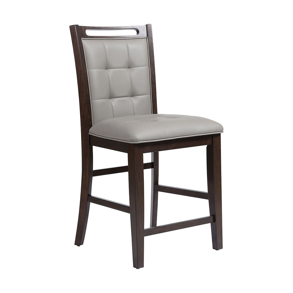 Stein World Upholstered Armless Chair in Gray