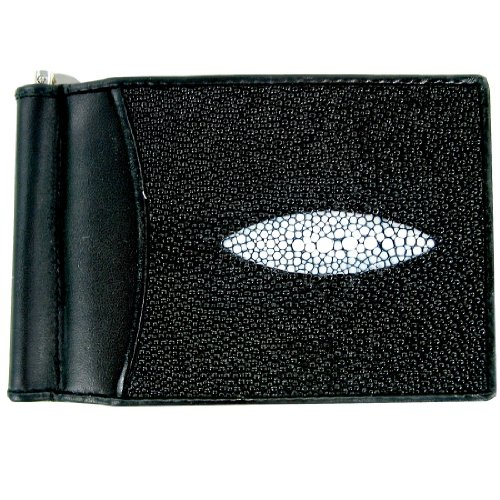 Money Stingray with Stingray Money Genuine Motif Genuine Clip Single Pearl Leather Leather nCYIqx