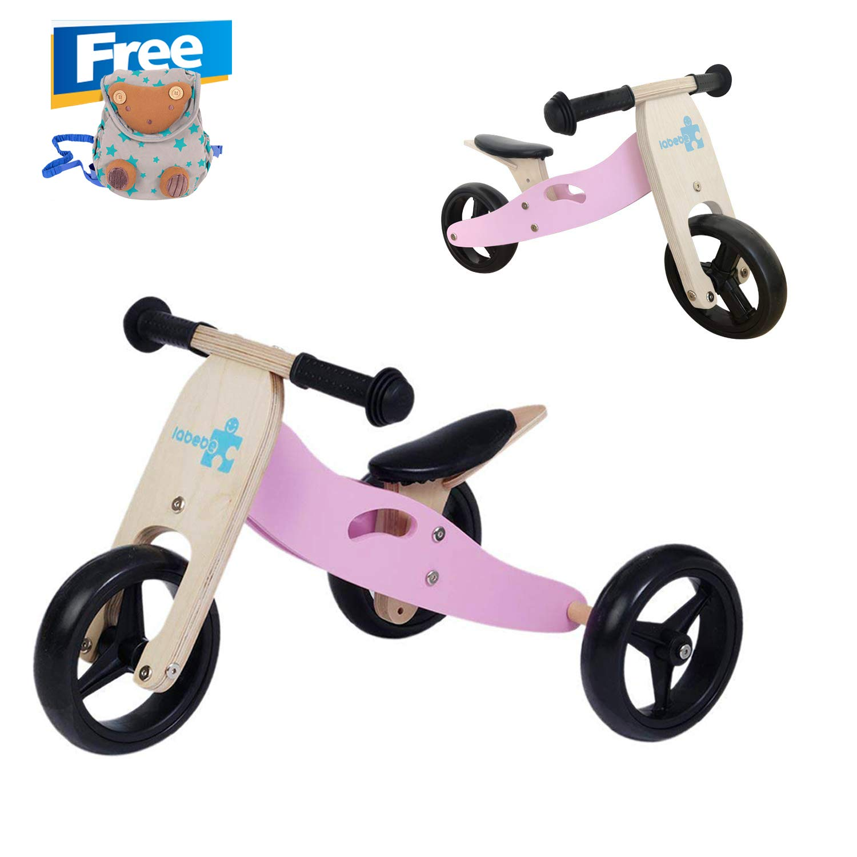 【Clearance】 20% Off! Labebe Kid's Training Bike, Blue Running Bike Adjustable Seat, Wood Balance Bike Kid Aged 18 Month-3 Year, Bike Training/Bike Balance/Bike Training/Toddler Balance Bike Toddler