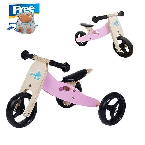 72306e0779c Amazon.com : 【Free Bag】 20% Off! Labebe Kid's Training Bike, 2-in ...