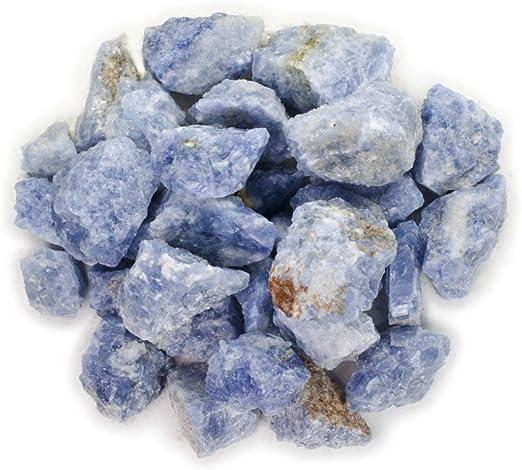 "Blue Calcite 4/"" to 5/"" 2 Lb Chakra Healing Crystal Metaphysical Reiki Stone"