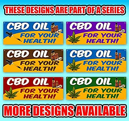 Phone Number Cbd Oil Sold Here Flag 13 Oz Heavy Duty Vinyl Banner Sign with Metal Grommets