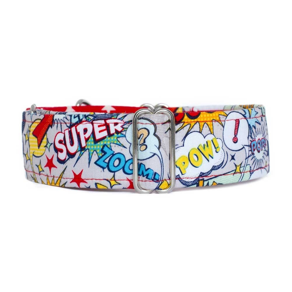 Medium 3.8cm width Noddy & Sweets Martingale Collar [Superhero Stars] Medium 3.8cm Width