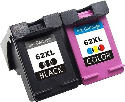 TooTwo 2 Paquete Cartuchos de Tinta Remanufacturados Reemplazar para HP 62 62XL (1 Negro, 1 Tricolor) Compatible para HP OfficeJet 5740 200, HP Envy 5640 5642 7640 5540 5542 Impresora: Amazon.es: Electrónica