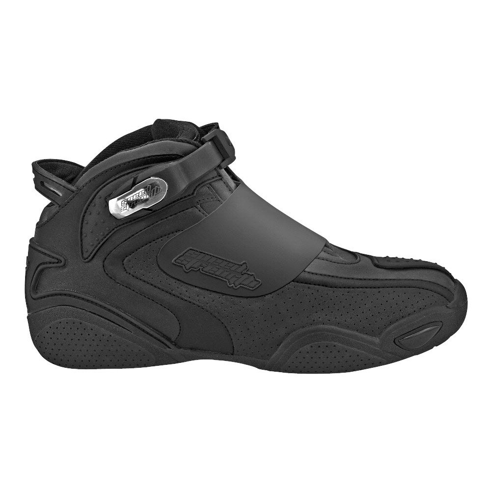 Speed and Strength Moment of Truth Men's Moto Leather Shoes (Black, Size 8)