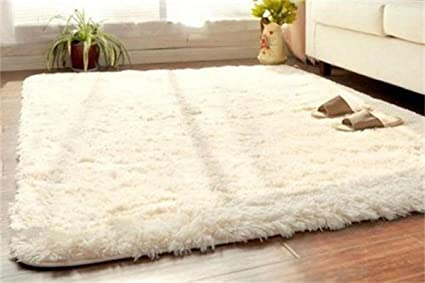 Soft Fluffy Rugs Anti Skid Shaggy Rug Dining Room Home Bedroom Carpet Floor  Mat