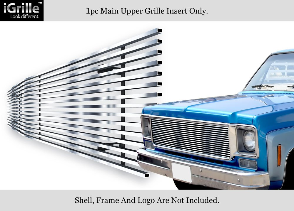 APS Fits 1973-1980 Chevy Blazer//C//K Pickup//Suburban //73-80 GMC C//K Pickup//Suburban Stainless Steel Polished Chrome 8x6 Horizontal Billet Grille Insert #C85008S
