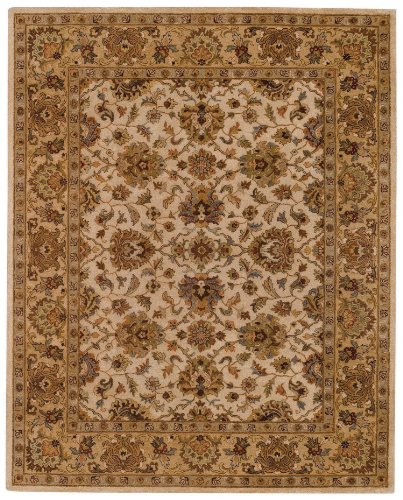 Capel Rugs Monticello-Meshed Rectangle Hand Tufted Area Rug, 5 x 8, (Capel Sand)