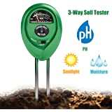 Soil Tester 3-in-1 Moisture Light PH Multifunctional Soil Acidity Test Kit, Best Probe Tester for Home And Garden, Lawn, Farm, Plants, Herbs & Gardening Tools, Indoor/Outdoors Plant Care