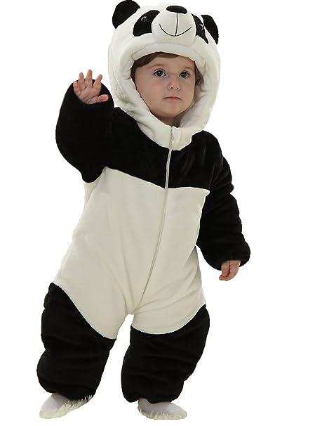 ea6640b0d Amazon.com  Infant Baby Boys Girls Winter Flannel Panda Bunting ...