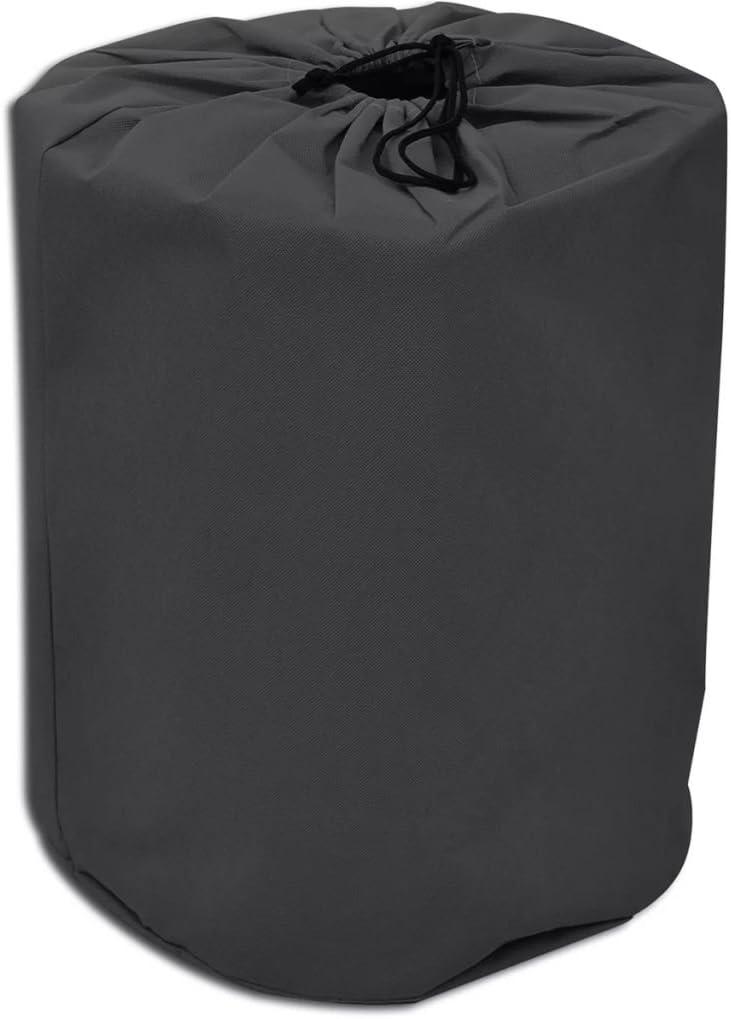 SOULONG Telo di Copertura per Roulotte Telone per Coperture Esterne per Roulotte Protezione Copriauto Camper Grigio Resistente alle Intemperie UV 610 x 230 x 220 cm