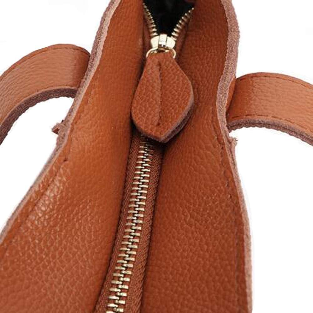Handtaschen für Frauen Die erste Schicht aus Leder Damen Einzelner Schulterbeutel Lederhandtaschen Lässige, einfache, weiche Leder-Einkaufstasche YJXUSHYQ (Farbe : Black) Black