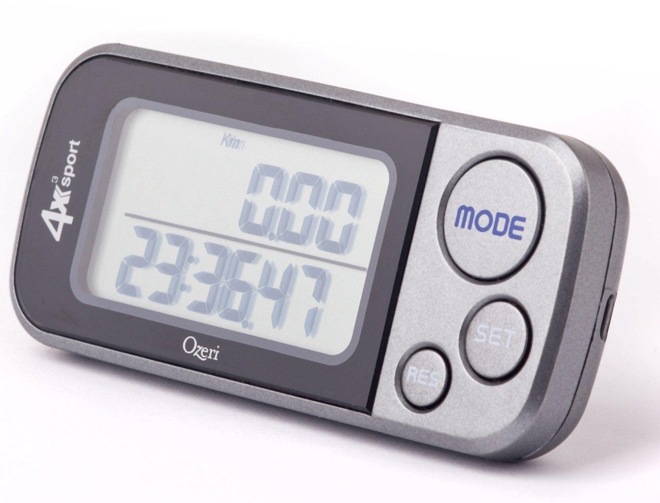 amazon com ozeri 4x3sport tri mode activity tracker walk run