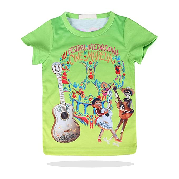 02cf110b64ee Toddler Coco Miguel T-Shirt Hector Coco Skull Shirts Day of The Dead  Graphic Tee