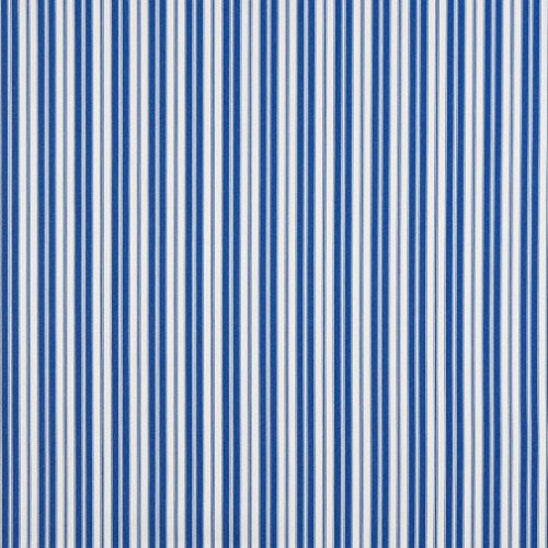 (B461 Blue Ticking Striped Indoor Outdoor Marine Scotchgard Acrylic Upholstery Fabric by The Yard)