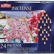 Reeves Derwent Inktense Pencil Set, Assorted Color, 24-Tin