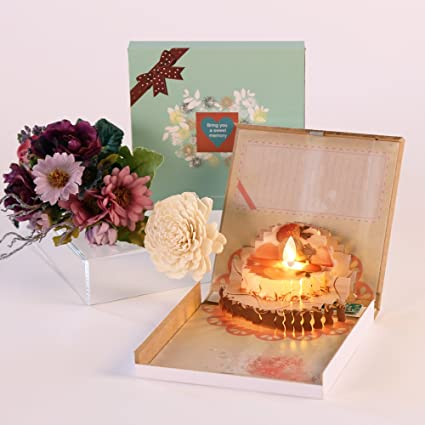 Thank You 3D Pop Up Happy Birthday Card Creative Handmade To Express Your Love