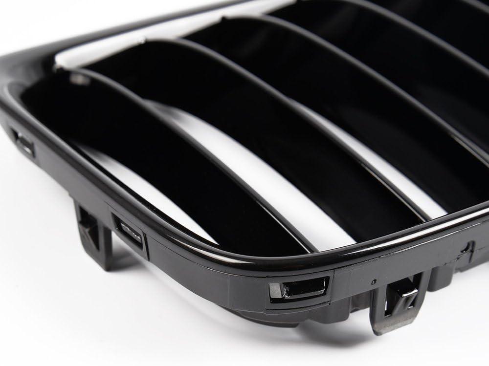 Black Front Hood Kidney Grille Sport Grill For 2010-2014 BMW E84 X1 4-Door