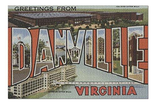 (Danville, Virginia - Large Letter Scenes (20x30 Premium 1000 Piece Jigsaw Puzzle, Made in USA!))