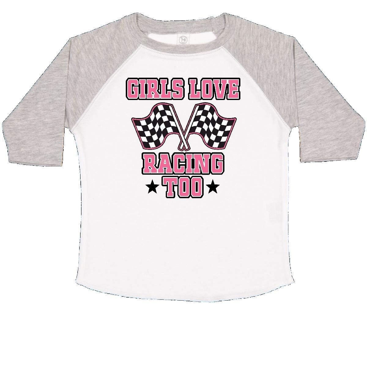 inktastic Girls Love Racing Rally Flags Toddler T-Shirt