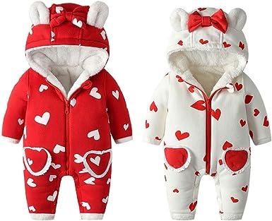 ZHMEI Ropa de Abrigo para bebés Bebé recién Nacido bebé niña niño ...