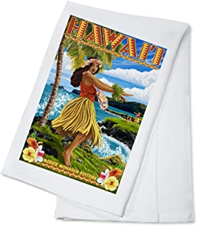 product image for Hawaii - Hula Girl on Coast - Merrie Monarch Festival (100% Cotton Kitchen Towel)