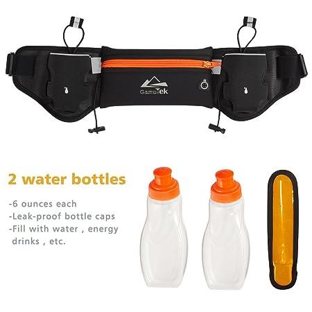 Gamut-Tek Hidratación cinturón con botellas de agua   1 mejor recomendado  corriendo combustible cinturón para hombres y mujeres perfectos para  maratones e1ec27140844