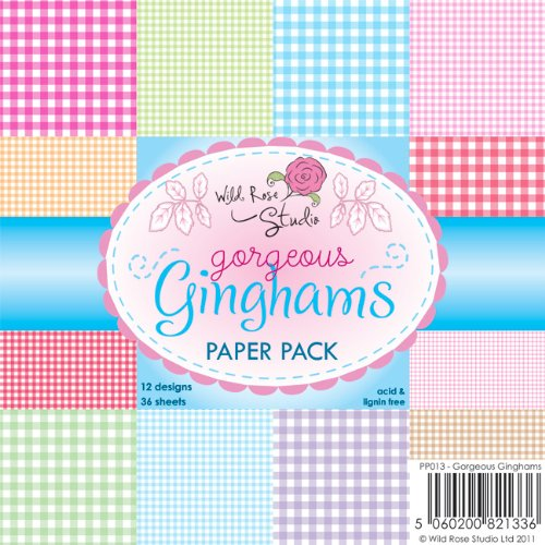 Wild Rose Studio Paper Pack, 6 by 6-Inch, Gorgeous Gingham