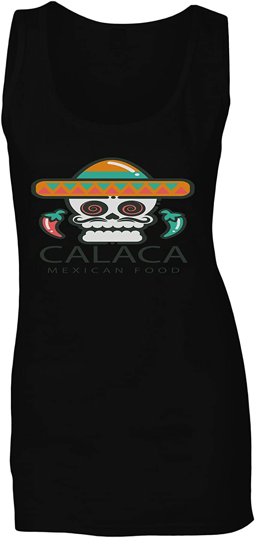 Restaurante Kalaca Mexicano Camiseta sin Mangas Mujer o901ft ...