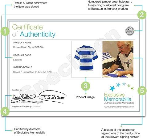 Autographed Sport Memorabilia Rodney Marsh Signed Queens Park Rangers Soccer Jersey Framed