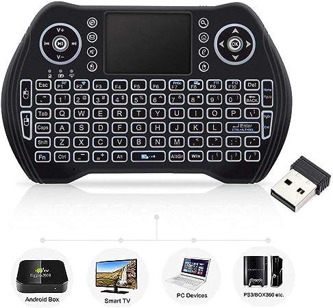 Mini teclado inalámbrico con ratón táctil, teclado inalámbrico para Smart TV, teclado remoto multimedia para Android TV Box, ordenador portátil, Xbox ...
