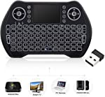 Mini Wireless Keyboard with Touchpad Mouse, Wireless Keyboard for Smart TV,