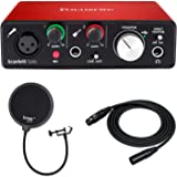 Focusrite Scarlett Solo (2nd Gen) USB Audio Interface with Pro Tools with Knox Pop Filter and XLR Cable Bundle