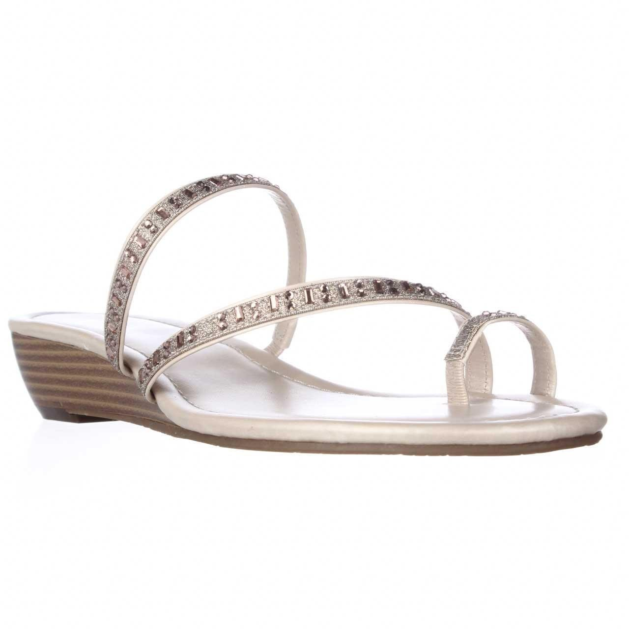 STYLE/&CO Womens Hayleigh Open Toe Casual Slide Sandals Beach Sand Size 10.0 M US