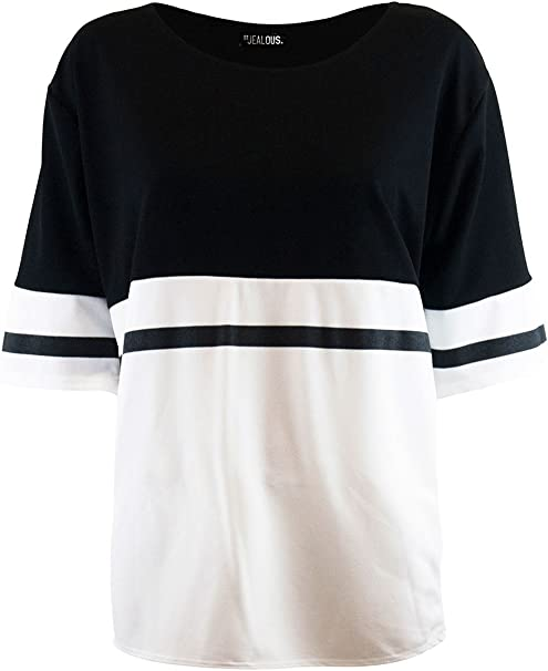 New Women Ladies Stripe Baggy Batwing Long Line Top Regular And Plus Size