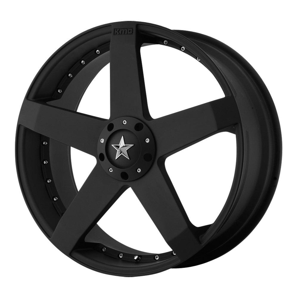KMC Wheels KM775 Rockstar Car Matte Black Wheel (17x7.5''/5x100, 114.3mm, +42mm offset)