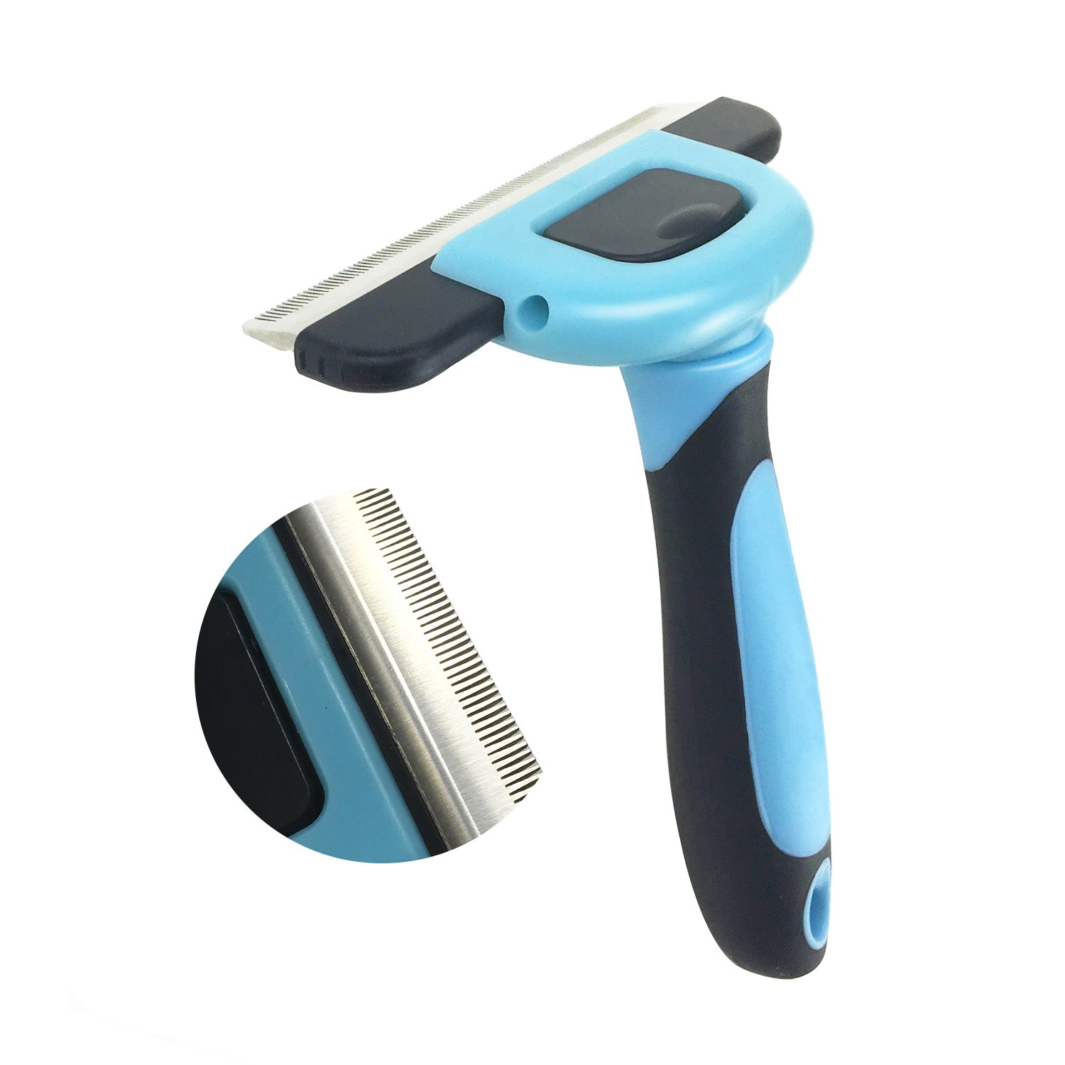 Pet Deshedding Tool, PeoTRIOL Dog Brush for Shedding, Dog Grooming Brush, Dog Hair Remover, Gentle Comb Tooth Reduce Shedding for Small, Medium & Large Dogs Cats