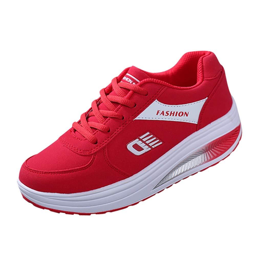 Zapatos deportes correa Fondo extra alta, Sonnena ❤️ Mujeres de moda Heightening Zapatillas de deporte de fondo suave zapatillas de deporte Zapatos de estudiante Runing