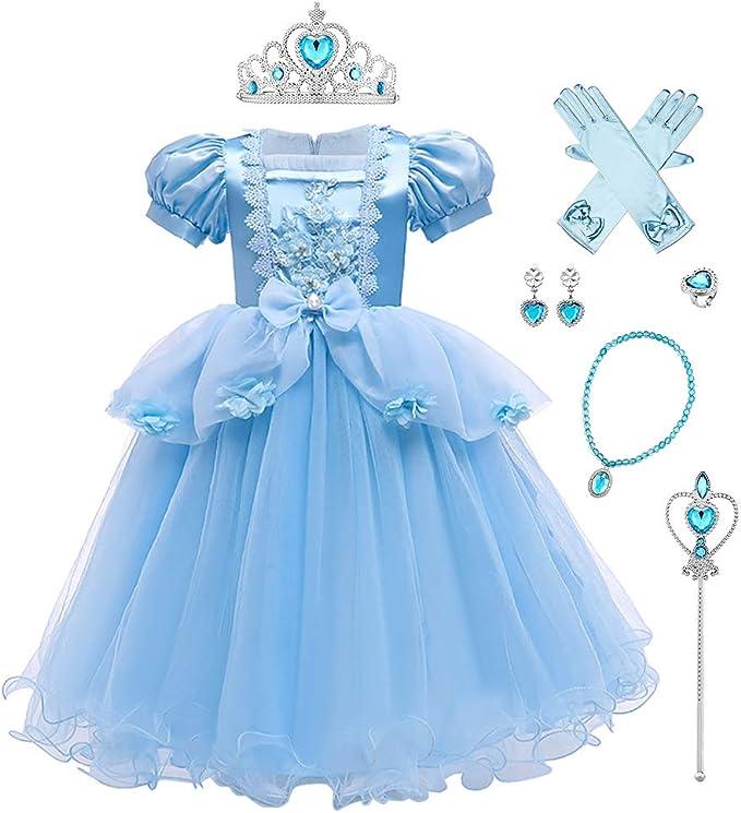 Mädchen Schneewittchen Kleid Kinder Cosplay Karneval Fasching Kostüm Ballkleid