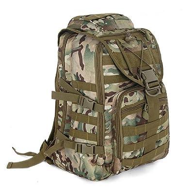 LJ&L Camouflage de sport de plein air combiné multifonctionnel tactique d'alpinisme sac bandoulière, nylon réglable étanche anti-déchirure anti-rayures durable en plein air 29L capacit&e